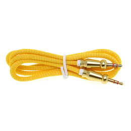 $enCountryForm.capitalKeyWord UK - Audio Jack 3.5 mm Male to Male Cloth Round gourd Audio Aux Cable For iPhone Car Headphone Speaker Wire Line Aux Cord 500pcs