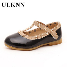 babies shoes for girls NZ - ULKNN Children Shoes Girls Leather Princess Shoes For Rivets Party Wedding Kids School Shoe Toddle Baby Casual Shoe 2018 Summer
