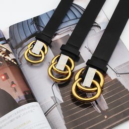 Discount mse model - Fashion Golden Leather Belt Explosion Models of Ancient Gold Letters Snaps Ms. Belts Women's Fashion Spot