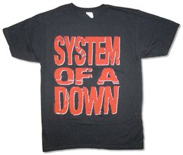 Black Blocks Canada - System Of A Down-Red Block-Logo-X-Large Black T-shirt Fashionable Round Funny Tee Shirts Hipster O-Neck Cool Tops Hip Hop Short Sleeve