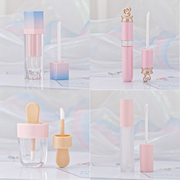 Makeup Packaging Australia - Pink Lip Gloss Tint Plastic Tubes DIY Empty Makeup Big Lipgloss Liquid Lipstick Case Beauty Packaging F2286