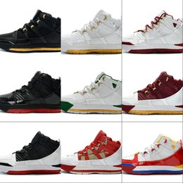 sports king 2019 - Good Quality Black White Red Man Designer Basketball Shoes New 3 King Wine Red Gold Fashion Sport Sneakers Come With Box