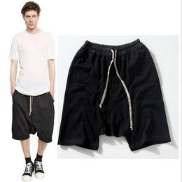 $enCountryForm.capitalKeyWord NZ - 2019 New black shorts kanye west cool sweatpants 30-36 mens jumpsuit HIPHOP rock stage urban clothing owens dress harem