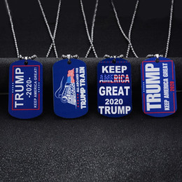 platinum chain styles Australia - Donald Trump Necklace America Great Pendant 4 Styles Stainless Steel Couple Necklaces Men Jewelry Women Sweater Chain Gift TA-TA1870