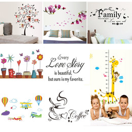 Discount word art wall decor - 1pcs Art Words Quote Wall Sticker Kids Rooms Decor Funny Wall Decals Animals Wallpaper Mural Beauty Sticker Home Decorat