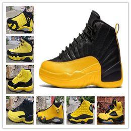 Venta al por mayor de 2019 nueva llegada de los hombres zapatos de baloncesto 5s 9s 11s 12s 13s zapatillas de baloncesto para hombre 14s diseñadas con negro y amarillo como el principal color de size40-47