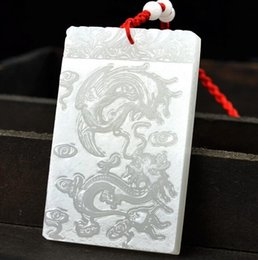 white jade pendant silver Australia - Hetian white jade natural Afghan white jade dragon and phoenix pendant pendant pendant sheep fat grade white jade A goods factory direct sal