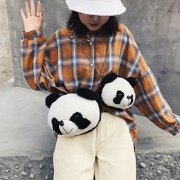 lovely chains Australia - Lucky2019 Animal Lint Doll Panda Ma'am Single Shoulder Package Cartoon Lovely Chain Oblique Satchel