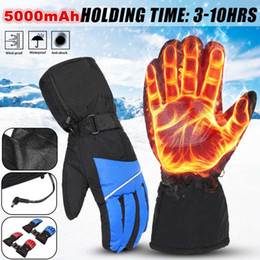 warmest motorcycle gloves 2019 - 5000Mah Electrical Heating Gloves Rechargeable Battery Motorcycle Riding Winter Hand Warmer For Outdoor Skiing Hiking Cl