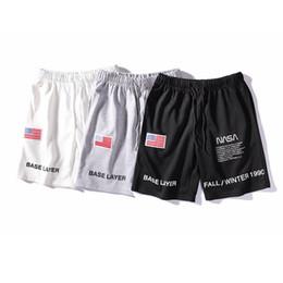 $enCountryForm.capitalKeyWord NZ - NASA Heron Preston Shorts for Men Designer Letter Embroidery Drawstring Summer Casual Shorts Trend Sweatpants Trunks LJJA2670