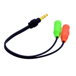 3.5 audio cable extension Australia - Audio Splitter Cable Male to 2 Port 3.5mm Female with Mic 3.5 Extension Aux Cable