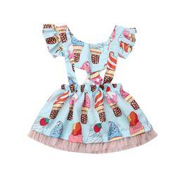 $enCountryForm.capitalKeyWord Australia - Newborn Toddler Girl Dress Summer Ice Cream Print Princess Baby Party Tutu Sundress Lace Beach Party Girls Dresses Kids Clothing