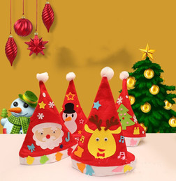 kindergarten christmas gifts Australia - hot DIY Christmas Hat Kindergarten Handmade Materials Puzzle Toys Non-woven Handcraft Educational Toys Christmas Decorations gift T2I5561