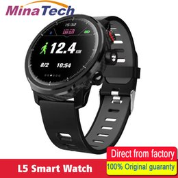 Wholesale L5 Men Smart Watch IP68 Waterproof Multiple Sport Mode Heart Rate Weather Smartwatch Support Led Lighting Message Call Reminder