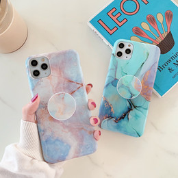Discount phone case trends The trend of marble is suitable for iPhone11Pro mobile phone shell XR anti-fall belt bracket creative soft shell protect