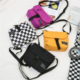 wholesale mobile phones korea 2019 - Hip hop handbag fashion shoulder Messenger bag Japan and South Korea trend ladies canvas sports and leisure mobile phone