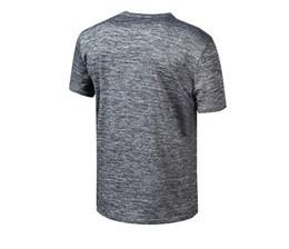 Fitness Sport Wear Men UK - Men's Quick Drying T-shirt Short Sleeve Dry Clothes Outdoors Fitness Wear Summer Fitness Running Sports T-shirt