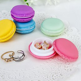 Mini Box For Candies Australia - Portable Candy Color Mini Cute Macarons Carrying Case Organizer Storage Box For Jewelry Ring