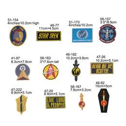 $enCountryForm.capitalKeyWord Australia - Star Trek logo Embroidered patch Classic Name & Enterprise Ship Yoyodyne Corporation INSIGNIA UNIFORM halloween costume