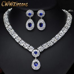 $enCountryForm.capitalKeyWord Australia - 6 Colors High Quality African Cz Beads Big Red Green Blue Cubic Zirconia Luxury Women Jewelry Sets For Evening Party T099 T190701