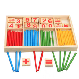 $enCountryForm.capitalKeyWord Australia - 1pc Baby Toys Counting Sticks Education Wooden Toys Building Intelligence Blocks Mathematical Wooden Box Chil Gift