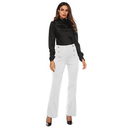 $enCountryForm.capitalKeyWord UK - 2019 Hot Sale Women Casual Solid Zipper Double-Breasted Pencil Stretch Skinny Sexy Streetwear Loose Long Pants Drop Shipping