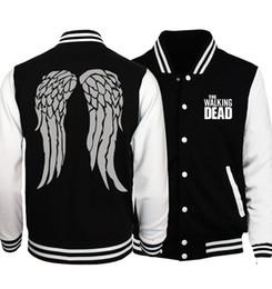 Walking Dead Jacket Australia - Jackets For Men 2019 Autumn Brand Clothing Fashion Streetwear The Walking Dead Hip Hop Plus Size S-5xl Loose Men's Coat Jacket