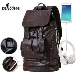 Train Usb Australia - Anti-theft USB PU Leather Gym Backpack For fitness Men Training Bag With Shoes Storage Travel Duffle Se De Sport Bolsa XA24D #548013