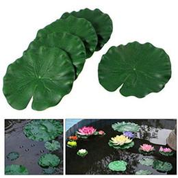 Landscaping Plants Flowers UK - Flowers Green Plants Artificial Lotus Lotus Leaf Home Ill Again For Aquarium Decoration Dance Props Landscape