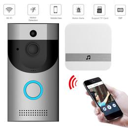 Venta al por mayor de 2020 Home System Anillo IR Nuevo Smart Wireless WiFi timbre video cámara del timbre del timbre de la puerta dos vías de audio Control de APP Android iOS casa inteligente