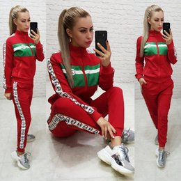 HigH end pant suits online shopping - Women s autumn new women s high end two piece European and American women s sports and leisure suit