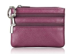 China Wallet Leather Australia - Fashionable Genuine Leather Brand Luxury Women Wallets and Coin Purses Zipper Key Bag