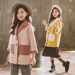 $enCountryForm.capitalKeyWord Australia - New Autumn Winter Teen Girls Coat Children Suede Fleece Jacket For Kids Long Outerwear Girls Leisure Clothes Fashion 2019 New