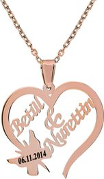 special roses UK - Special your name Chavin Silver Heart Butterfly Necklace Named Rose Gk015