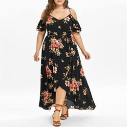 $enCountryForm.capitalKeyWord Australia - Vestido Verano Women Maxi Dress Short Sleeve Cold Shoulder Boho Flower Print Summer Dress Plus Size Long Dress Vestido Sexy
