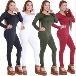 $enCountryForm.capitalKeyWord Australia - Nice Autumn Winter New Fashion Women Rompers Long Sleeve O-neck Sexy Bodysuits Bandage Long Pants High Quality Skinny Jumpsuit