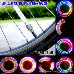 $enCountryForm.capitalKeyWord NZ - 2pcs set Bicycle Wheel Tire Valve Light Spoke Sense Lamp Bike 5 LED Colorful Light Lamp Neon Valve Firefly Bicycle Accessories #221212