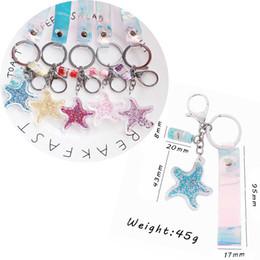 $enCountryForm.capitalKeyWord Australia - Korea New Hot Sale Cartoon Transparent Five-pointed Star Key pendant Hanging Ornaments Cute Key Chain Bag Pendant Creative Gifts