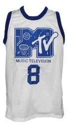 3bd847ba5e66 wholesale Steve Urkel  8 Mtv Rock N Jock Basketball Jersey New White  Stitched Custom any number name MEN WOMEN YOUTH BASKETBALL JERSEYS