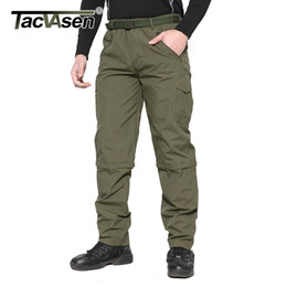 military trousers men Australia - Tacvasen New Men Summer Military Quick Drying Spring Camouflage Cargo Pants Thin Hike Climb Removable Trousers Ycxl-050-01 C19041303