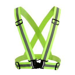 High Visibility Motorcycle Australia - CHCYCLE Reflective motorcycle belt high visibility yellow security for cycling running signal safety belt tape reflection