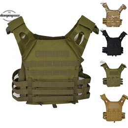 multicam zipper Canada - Hunting Tactical Accessoris Body Armor J P C Plate Carrier Vest Multicam Ammo Magazine Airsoft Tactical vest