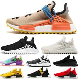 4b83739f9 2019 mens new Human Race Hu trail pharrell williams NMD running shoes Cream  White Holi women trainers designer sports runner sneakers 5-11