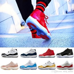 White Gown Red Roses Australia - low 11 11s high New le Basketball Shoes Men Women Gym Red Black White 11s Legend Cap and Gown Concord 23 45 Rose Gold red Blue Sneakers