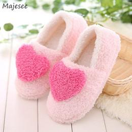 $enCountryForm.capitalKeyWord NZ - Winter Slippers Women Soft Velvet Simple Sweet Thicker Trendy Womens Flat Non-slip Indoor Floor Ladies Shoes Casual Kawaii Chic