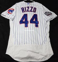 39b714d4f MAJESTIC Cheap CHICAGO #44 ANTHONY RIZZO PINSTRIPE FLEXBASE Jersey Mens  Stitched Wholesale Big And Tall SIZE XS-6XL baseball jerseys