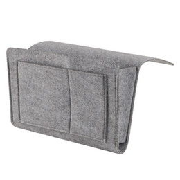 Войлок Многофункциональный Прикроватный диван Подвесной держатель для хранения органайзер ящик журнал смартфон пульт дистанционного управления сумка для хранения Карманы Оптовая