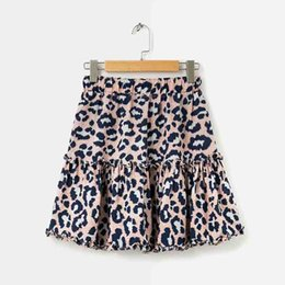 Ls Springs Australia - Women Skirts 2019 Spring & Summer Fashion Casual Leopard Print Panelled Street Style A-Line Skirts Cotton Blend Size S-L