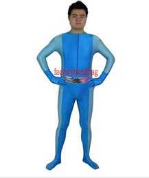 Funny Party Suits Australia - New style Totally Spies! Britney Blue Spandex Superhero Halloween Party Cosplay Zentai Suit