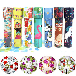 Discount kaleidoscopes for children Children Random Rotating Kaleidoscope Rotation Fancy World Baby Toy Kids Colorful Toys Best Gift for Kids